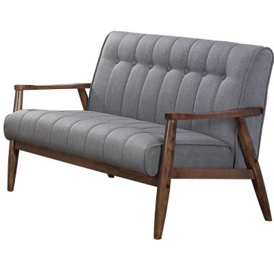 居家生活 特魯瓦 3 . 7 尺胡桃色雙人布沙發