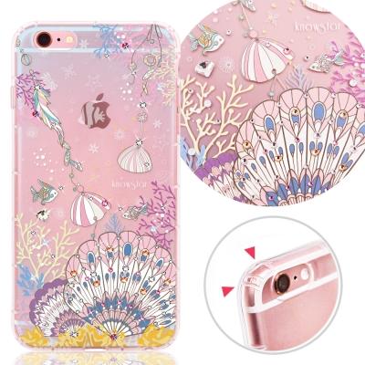 KnowStar APPLE iPhone6s Plus 奧地利彩鑽防摔手機殼-珊瑚海