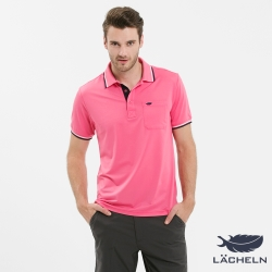 【LACHELN】Coolmax 快乾抗UVPOLO衫-粉紅(L72M909)