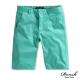 Roush 褲頭小格紋窄管高磅數水洗時裝短褲