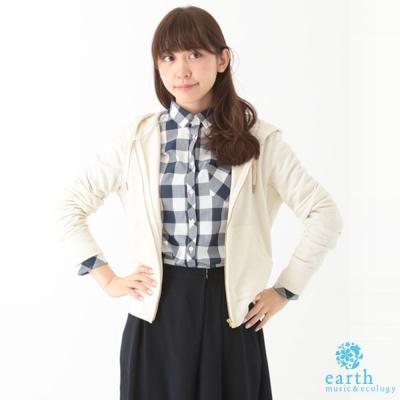 earth music&ecology 抽繩連帽運動外套