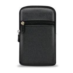 UNI 時尚前端雙層拉鍊 5.5-6吋 帆布腰掛包