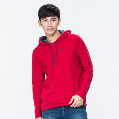 ATUNAS 歐都納 男款平價奢華長袖保暖連帽衫 A1-P1641M 紅