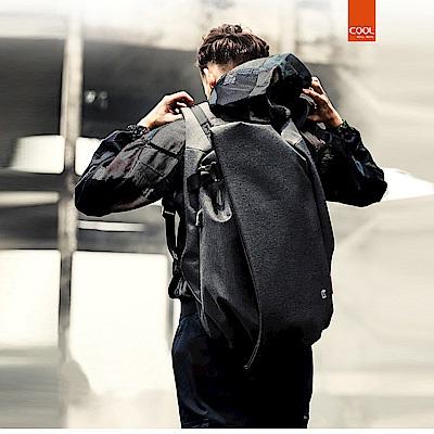 leaper KAKA休閒潮款17.3吋防潑水防盜USB充電電腦後背包 共3色