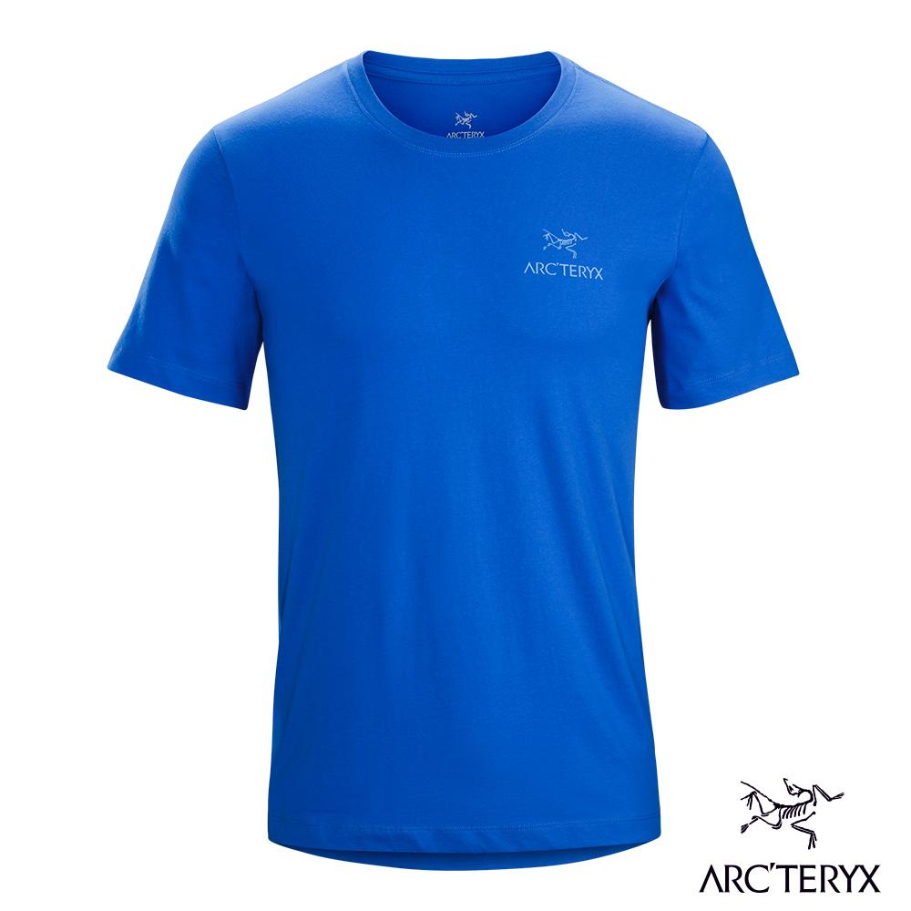 Arcteryx 24系列 男 有機棉 Emblem 短袖T恤 漂流藍