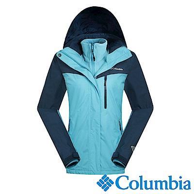 Columbia哥倫比亞 女款-OH 刷毛兩件式外套-湖藍色 UPL70550AQ