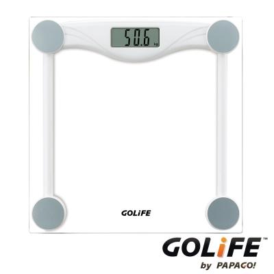 GOLiFE Fit Plus藍牙智慧BMI電子體重計(by PAPAGO)-白-快速到貨