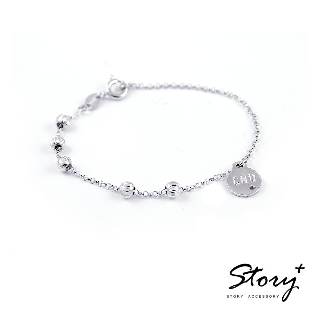 STORY故事銀飾-設計師系列-圓牌印記手鍊