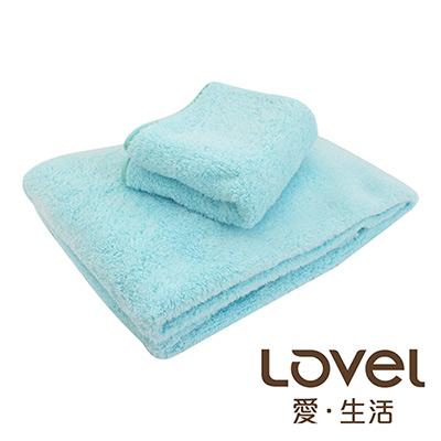 Lovel 全新升級第二代馬卡龍長絨毛纖維浴巾/毛巾2件組(共5色)