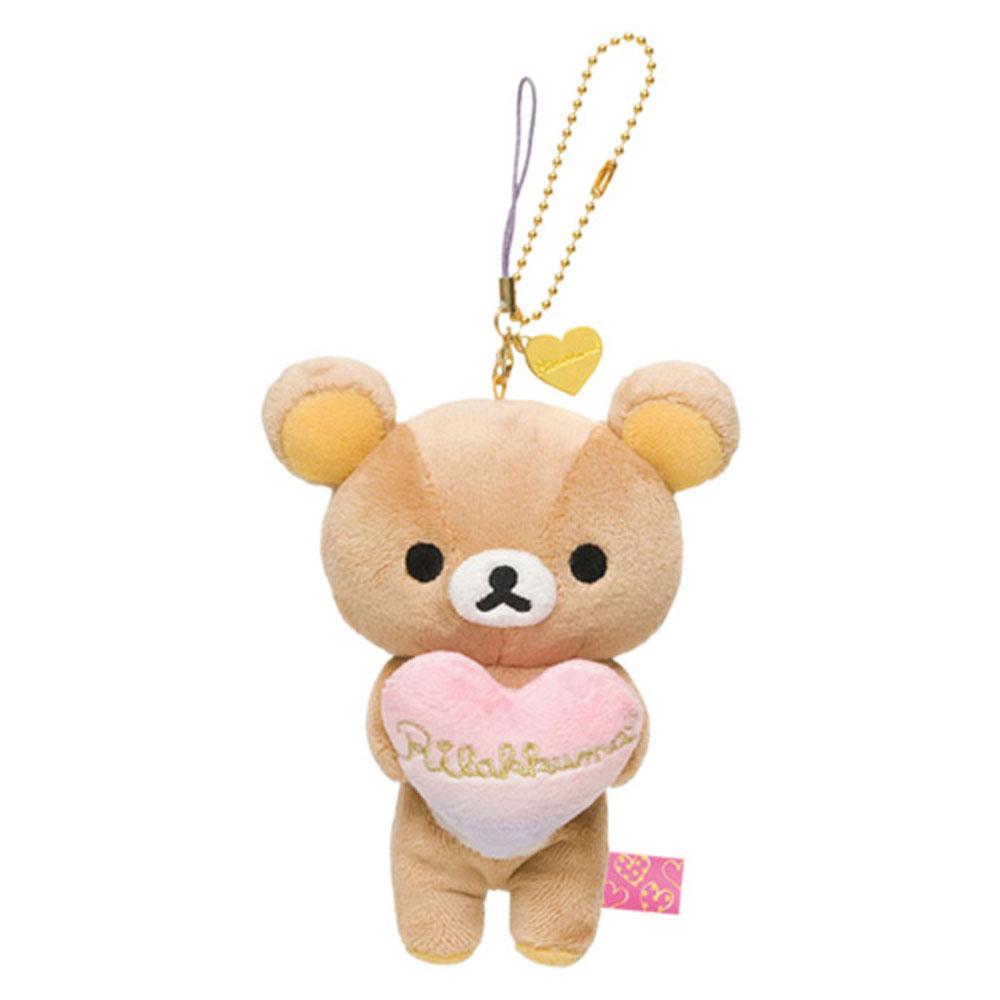 拉拉熊愛心泡泡浴系列毛絨小公仔吊飾