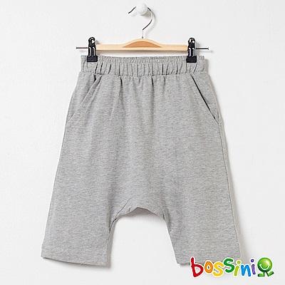 bossini男童-素色針織短褲02淺灰
