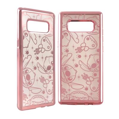 Disney迪士尼 三星Galaxy Note8時尚質感電鍍保護套-亂花滿版 史...