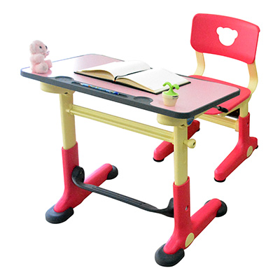 HanU 兒童健康可調整全成長書桌椅-粉紅色 (簡易DIY)