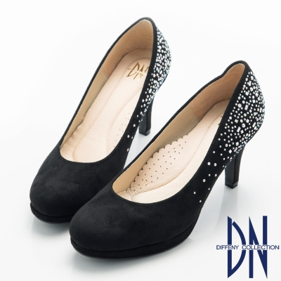 DN-經典優雅-耀眼水鑽點綴晚宴高跟鞋-黑