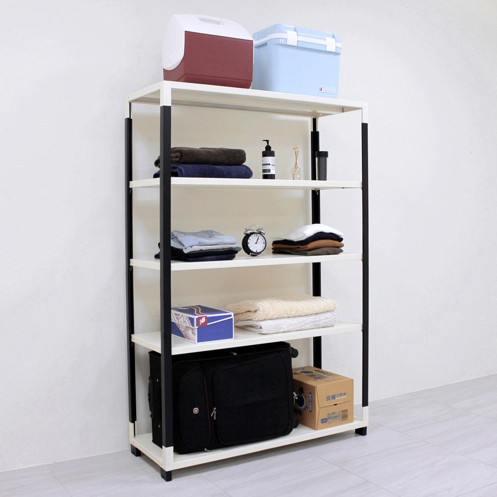 頂堅 [超耐重型]寬120公分(可調式層板)五層鐵板層架/網架(十年保固)