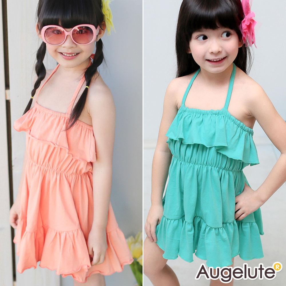 baby童衣  女童裝露背綁帶海灘風洋裝42141