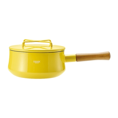 DANSK-琺瑯單耳燉煮鍋-限定色-芥末黃
