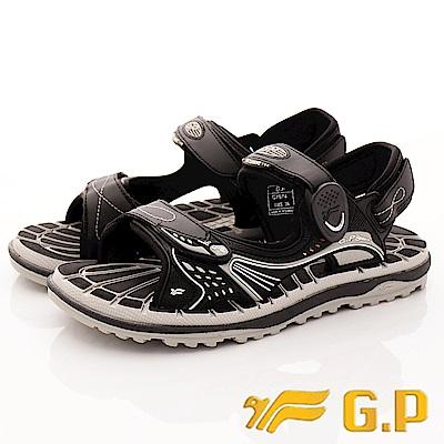 GP時尚涼拖-磁扣兩穿排水涼鞋-SE674-17黑(男段)