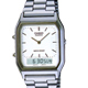CASIO 銀色時尚復古雙顯指針錶-白/29.5mm product thumbnail 1