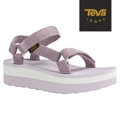 TEVA 美國-女 Flatform Universal 織帶厚底涼鞋 (花紗紫)