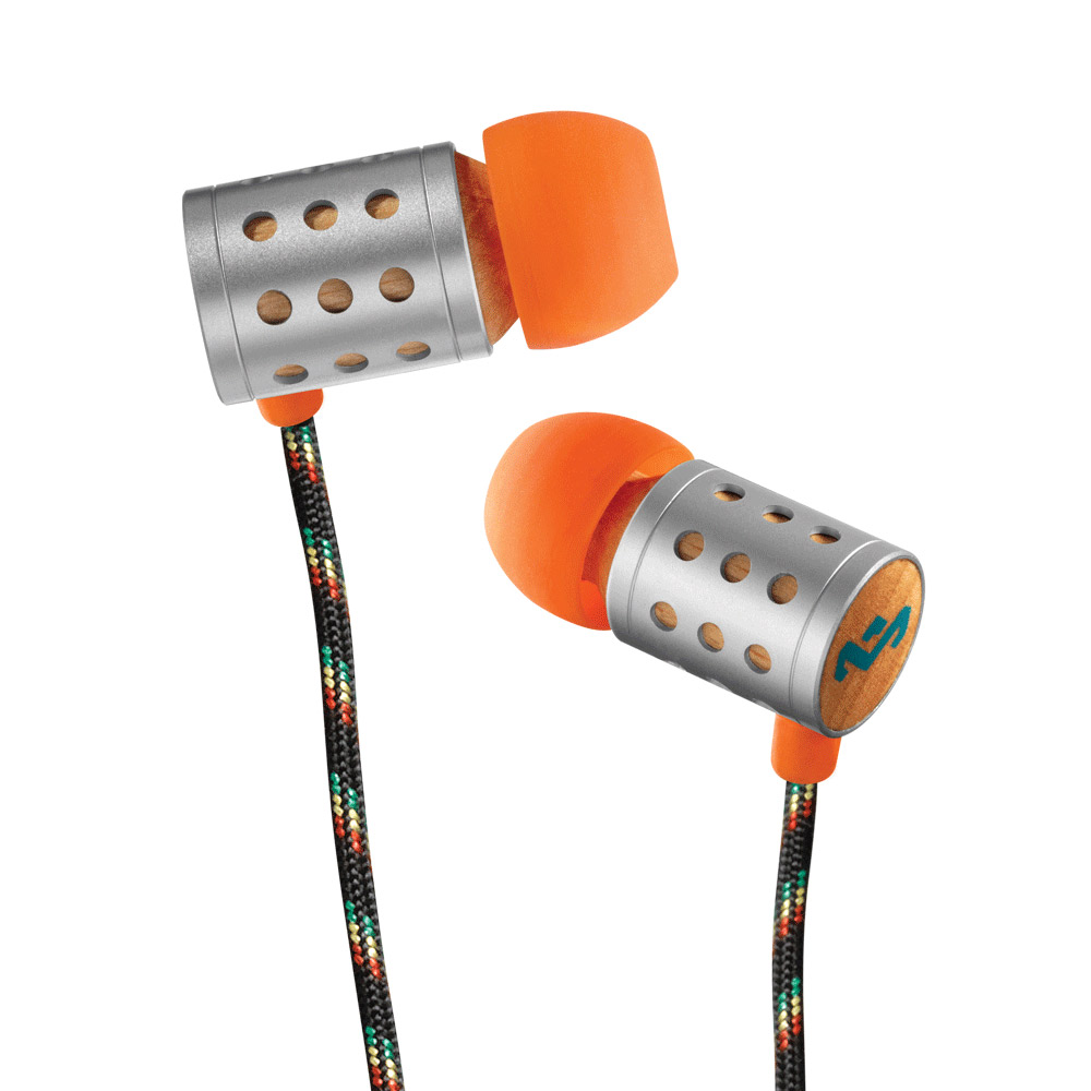 Marley Midnight Ravers Sun 入耳式耳機麥克風含音量控制(橙色)