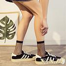Wazi-性感網格透膚中筒網襪 (黑色)