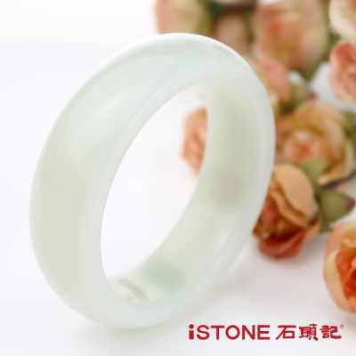 石頭記 頂極潤脂和田玉白玉手鐲-18.5