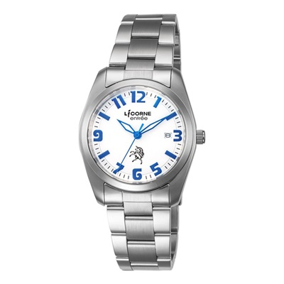 LICORNE 恩萃 Entree LT083BWWA-N 市腕錶-白x藍/36mm