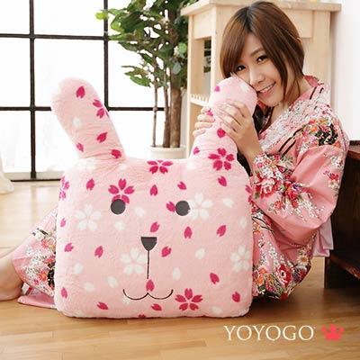 YOYOGO CRAFTHOLIC 和風櫻花兔靠枕
