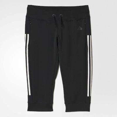 adidas 長褲 Gym 3/4 Pant 女 黑 白