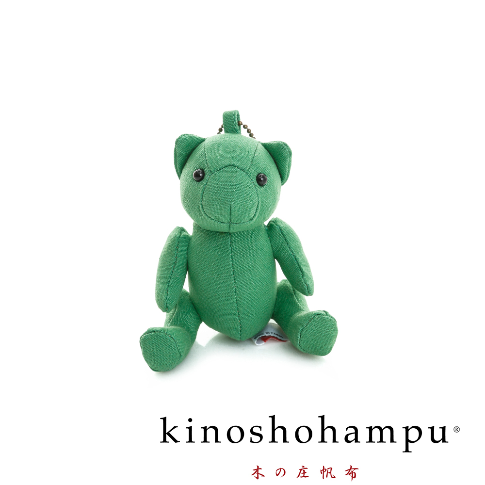 kinoshohampu 日本限量經典吊飾熊公仔 草地綠
