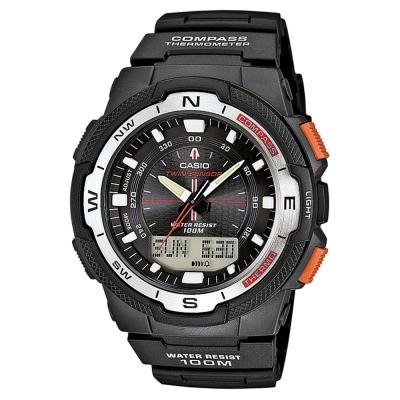 CASIO 輕巧登山王者風範戶外運動雙顯錶(SGW-500H-1B)-白框/45mm