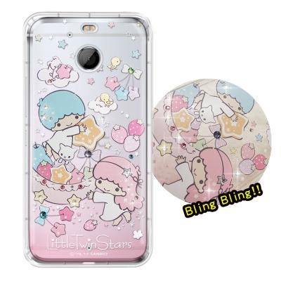 正版雙子星 HTC 10 EVO 5.5 吋 夢幻童話 彩鑽氣墊手機殼(星光水果...