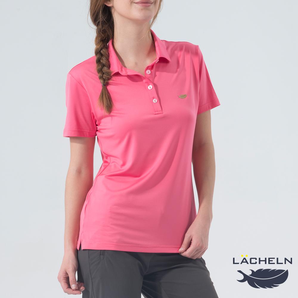 【LACHELN】Coolmax彈性百搭POLO衫-粉紅(L62W909)