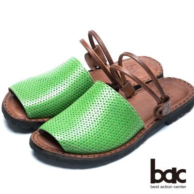 bac台灣製造 兩穿式平底涼鞋-綠色