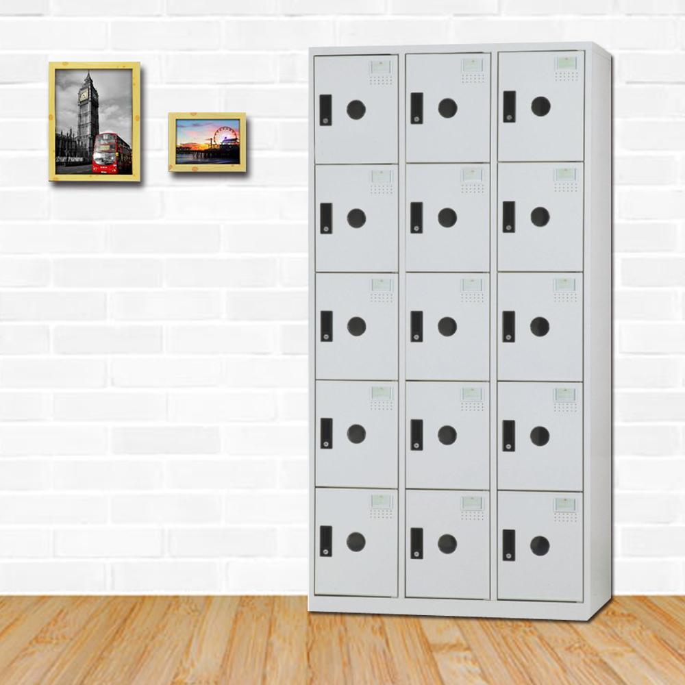 時尚屋 湯瑪斯多用途塑鋼製15格置物櫃 寬90x深35x高180cm