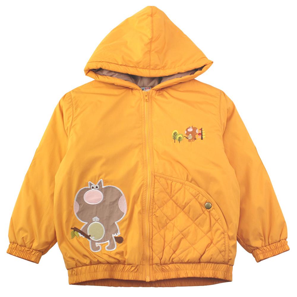 愛的世界 MYBEAR 森林家族防風舖棉連帽外套/6-8歲-台灣製-