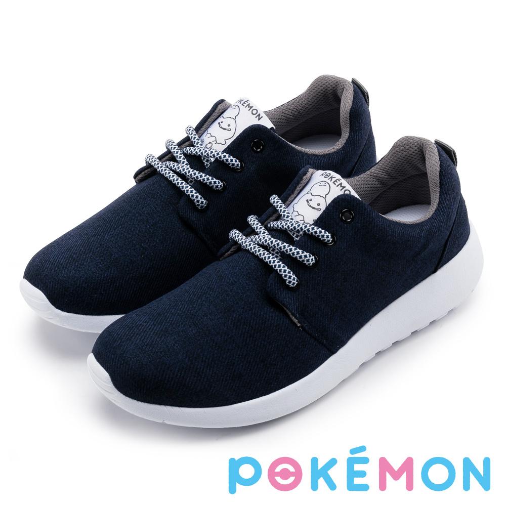 Pokémon寶可夢針織輕量運動休閒鞋-百變怪深藍