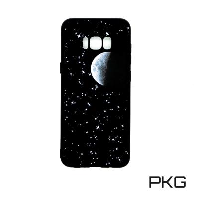 PKG For:三星S8 Plus 軟性保護殼-彩繪月球