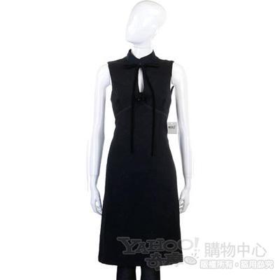 MOSCHINO 黑色無袖立領洋裝
