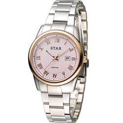 STAR 時代 時尚摩登仕女腕錶-粉/32mm