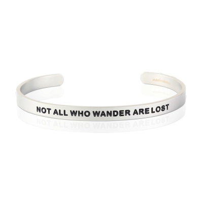 MANTRABAND Not All Who Wander Are Lost 消光銀男款寬