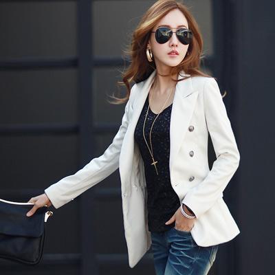 【N.C21】修身剪裁三釦長版西裝外套 (共二色)