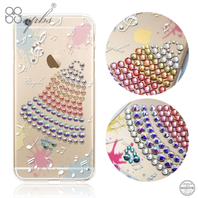 apbs iPhone6s / 6 PLUS 5.5吋 施華洛世奇彩鑽手機殼-叮...