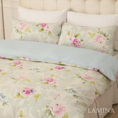 LAMINA-花語紛飛-雙人加大三件式精梳棉床包組