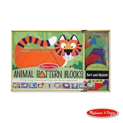 美國瑪莉莎 Melissa & Doug 益智 - 動物造型拼板-10面拼板,47 pcs