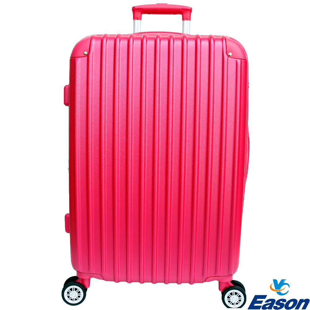 YC Eason 皇家24吋ABS可加大海關鎖行李箱 桃紅