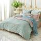 義大利La Belle 雙人貢緞防蹣抗菌吸濕排汗兩用被床包組 花曜滿庭 product thumbnail 1