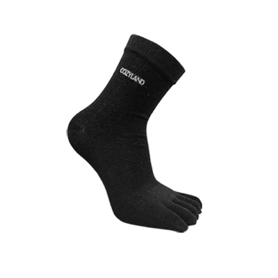 COZYLAND乾爽五趾襪(絲絨黑)x5雙