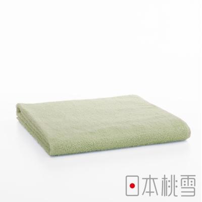 日本桃雪飯店大毛巾-亞麻綠